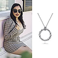 November 2020 Influencer Alisha Taneja posting and tagging Gabriel & Co. while featuring the Stronger Together Necklace!