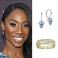 August 2019 Actress Angelica Ross wearing Gabriel & Co while attending the Red Carpet Event for FX's Pose!
