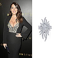 January 2020 Actress Angelique Cabral wearing Gabriel & Co while attending the Amazon Studios Golden Globes After Party