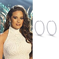 Ashley Graham wearing Gabriel NY at Miss Universe Pageant