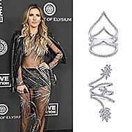 January 2020 MTV star Audrina Patridge wearing Gabriel & Co while attending The Art of Elysium's 13th Annual Celebration