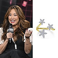 TV personality Carrie Ann Inaba wearing Gabriel NY at AOL Build Series