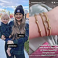 January 2021 Bujukan influencer Cassie Connolly tagging Gabriel & Co. and styling the bangles!