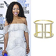 February 2020 Danielle Moné Truitt wore Gabriel & Co while attending the 35th Independent Film Spirit Awards!
