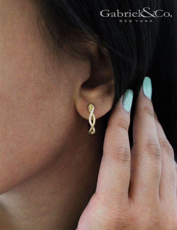 14k Yellow Gold Huggies Huggie Earrings