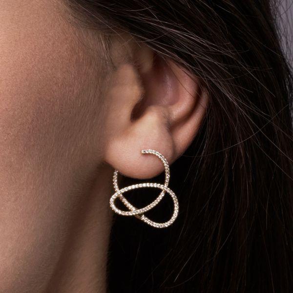 14k Yellow Gold Lusso Diamond Fashion Earrings