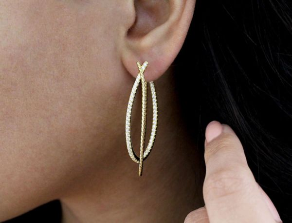 14k Yellow Gold Hampton Classic Hoop Earrings