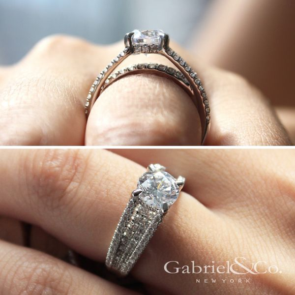 Wynn 18k White Gold Round Straight Engagement Ring