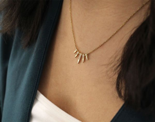 14k Yellow Gold Trends Fashion Necklace