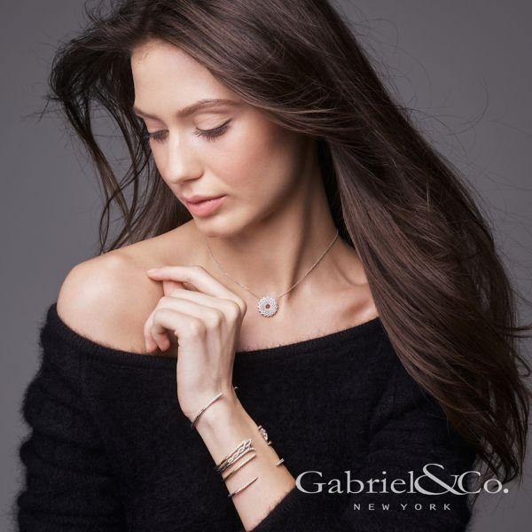 14k White Gold Lusso Diamond Fashion Necklace