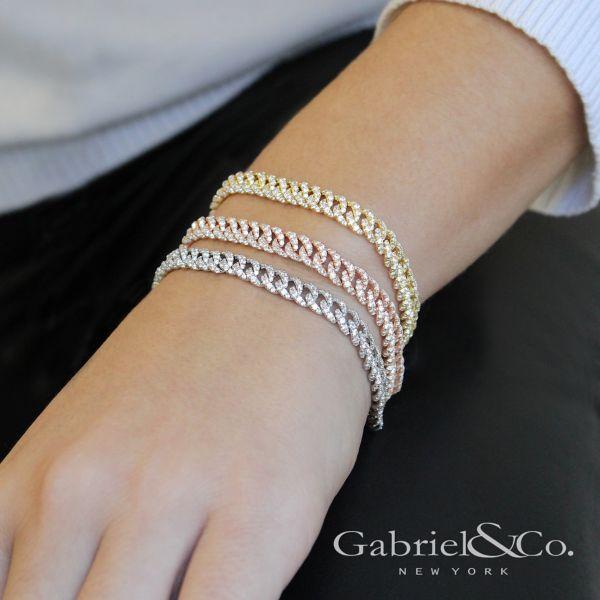 14k White Gold Lusso Diamond Tennis Bracelet