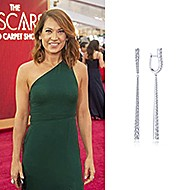 February 2020 Ginger Zee wore Gabriel & Co while attending the 92nd Annual Academy Awards!