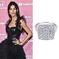 December 2019 Model Jaslene Gonzalez wearing Gabriel & Co while at the 2019 Billboard Women in Music Awards in Los Angeles