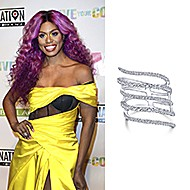 January 2020 Actress Laverne Cox wearing Gabriel & Co while attending the L'Oreal Matrix Destination 2020 Opening Night!
