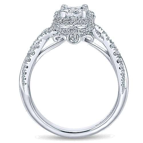 SZ 412 Black Rhodium Princess Cut Onyx Wedding Engagement