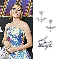 "Actress Meg Donnelly wearing Gabriel & Co. to the premier of ""Avengers: End Game""."