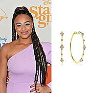 March 2020 Nia Sioux wearing Gabriel & Co  while attending the premiere of Disney +'s Stargirl in Hollywood?