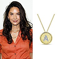 November 2019 Trending – Olivia Munn Wears Our Initial Necklace To Forbes Under 30 Summit