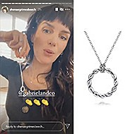 January 2020 Shenae Grimes-Beech tagging Gabriel & Co. and sharing the Stronger Together Necklace