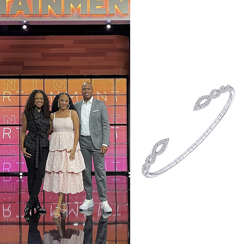 August 2021 Actress Tamera Mowry wore Gabriel & Co.
