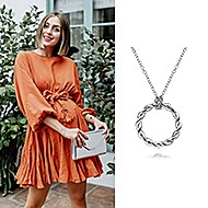 November 2020 Influencer Tessa Port sharing the Stronger Together Necklace and tagging Gabriel & Co.!