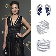 Torrey Devitto wearing Gabriel NY during the Golden Globe Awards