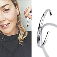 April 2020 Actress Abbie Cornish sharing Gabriel & Co.'s 91>19 Bangle