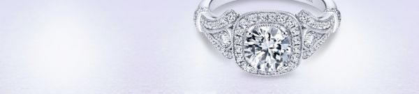 Delilah 14k White Gold Round Halo Engagement Ring angle