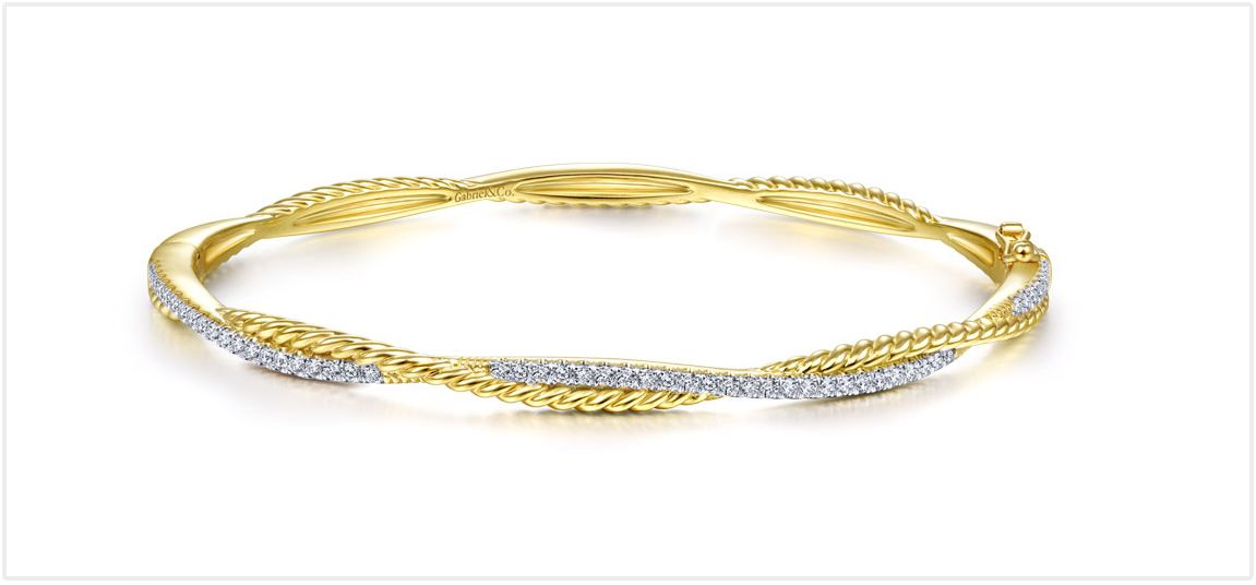 Yellow Gold Hampton Bangle