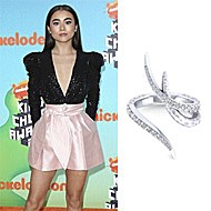 Actress Ciara Riley Wilson wearing Gabriel NY to the Kid's Choice Awards in Los Angeles