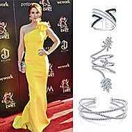 June 2019 Actress Courtney Hope wore Gabriel & Co. to the 46th Annual Daytime Emmy Awards
