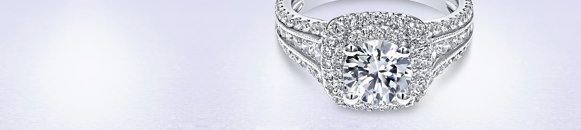 Double Halo Engagement Rings Gabriel Co