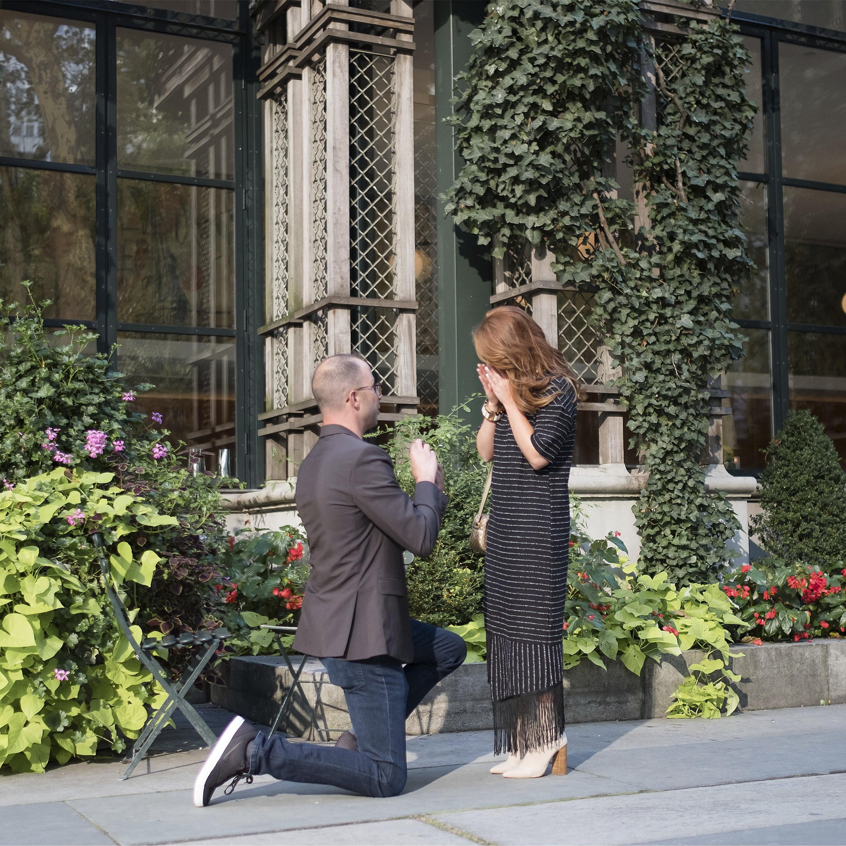 Love begins in Bryant park