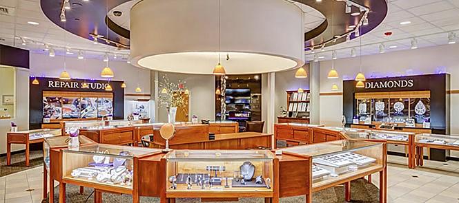 Tour 360 showroom bán lẻ trang sức của Thallot Jewelers ở Thornton