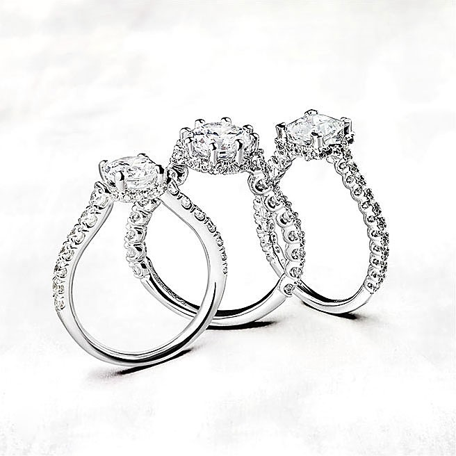 Gabriel & Co Engagement Rings Crown
