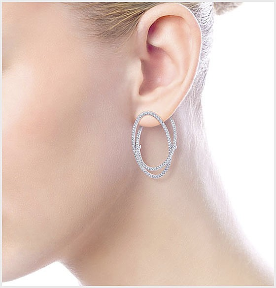 White Gold Classic Hoop