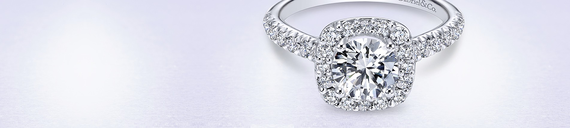 Halo Engagement Rings With Brilliant Round Cut Diamonds - Gabriel & Co