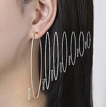 Hoop Earrings Measurements - Gabriel & Co.