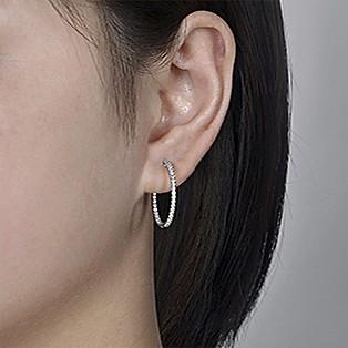 Hoop Earrings Measurements - 20 MM - Gabriel & Co.