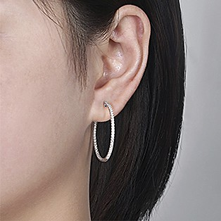 Hoop Earrings Measurements - 30 MM - Gabriel & Co.