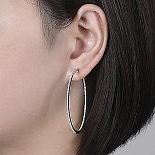 Hoop Earrings Measurements - 50 MM - Gabriel & Co.