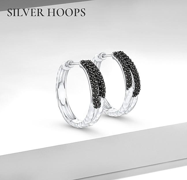 Silver Hoops - Gabriel & Co.