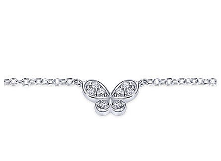 14K White Gold Bracelet with Diamonds