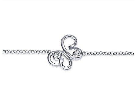 925 Silver Bracelet with White Sapphire