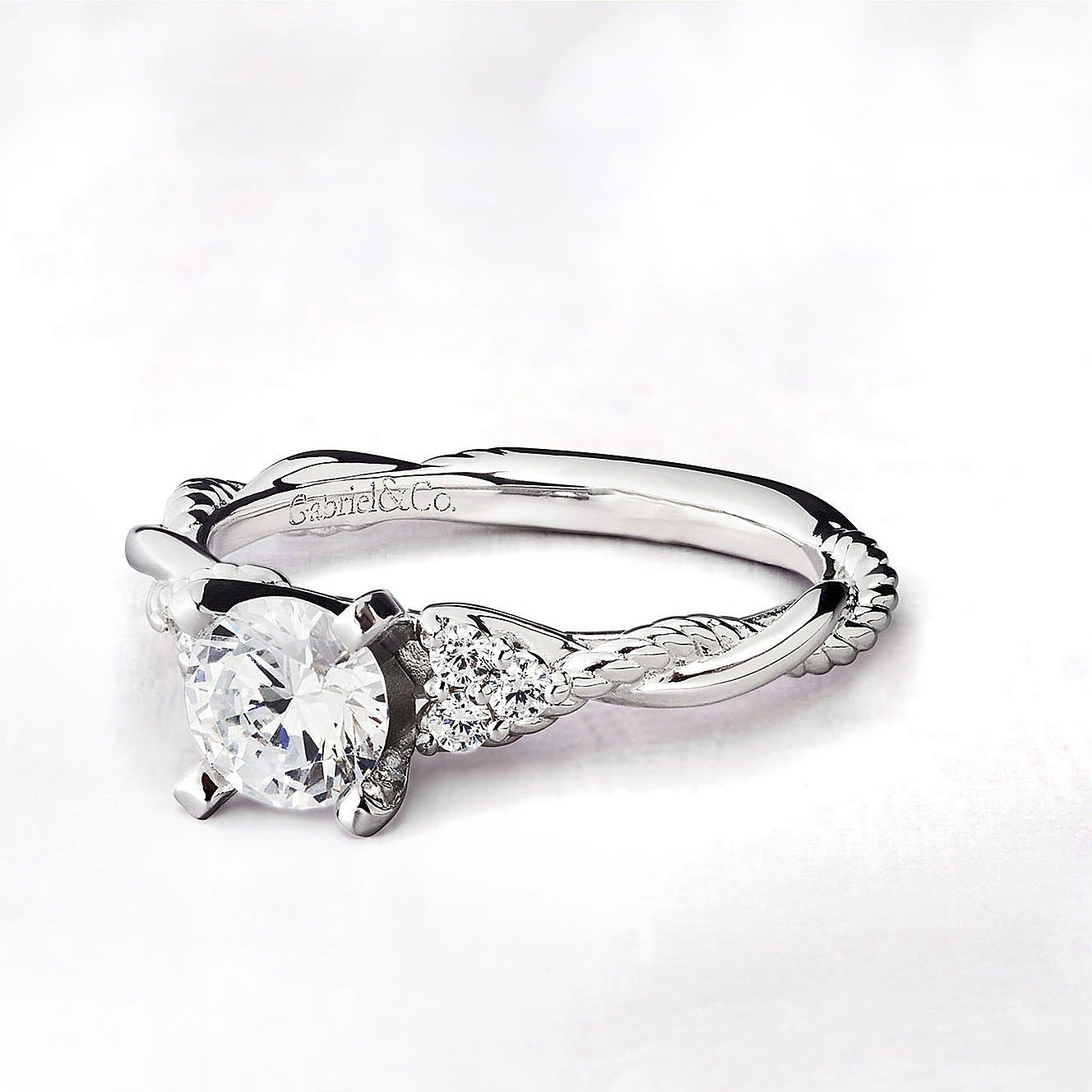 Gabriel & Co Engagement Rings Riata