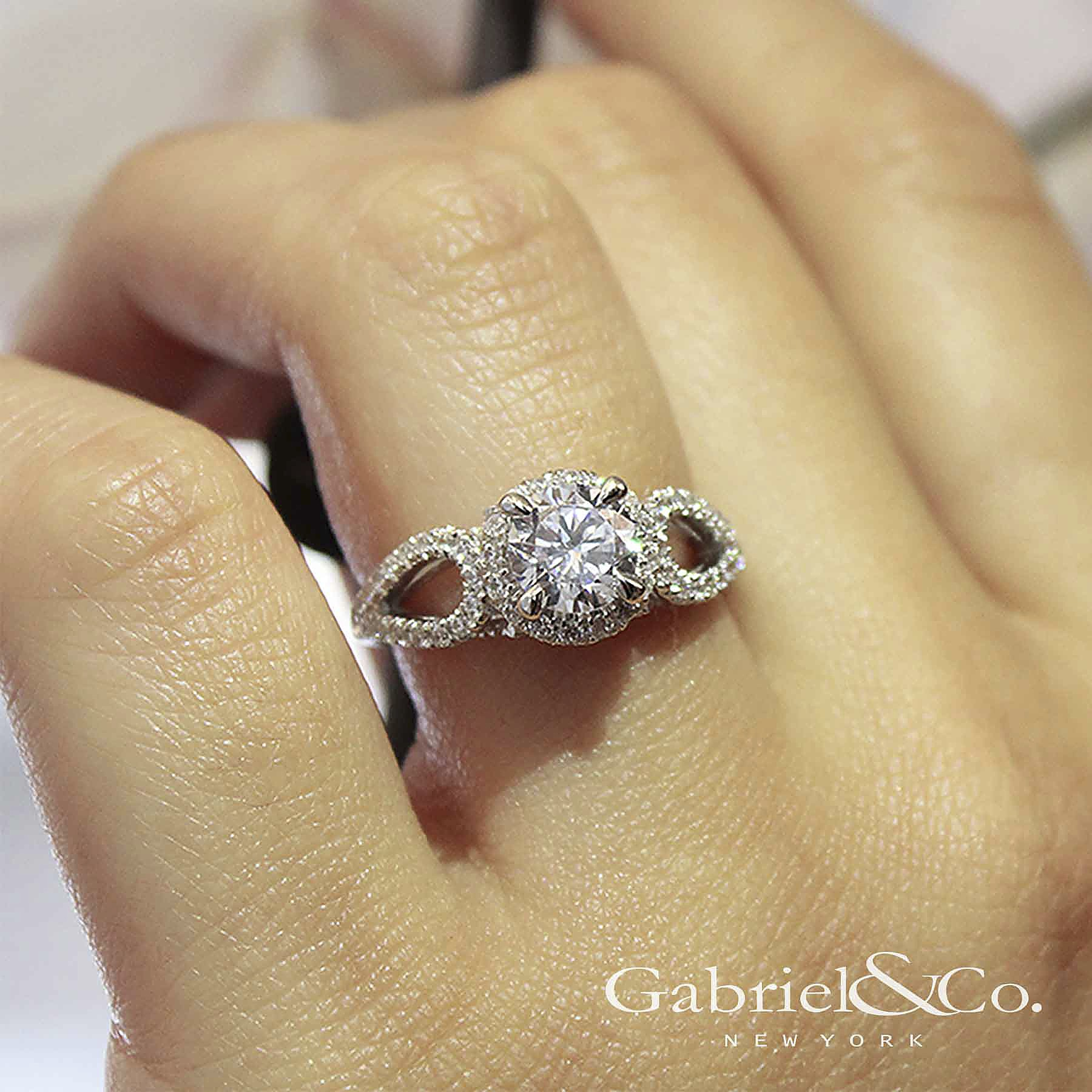 Entwined Collection Interwoven Set Engagement Rings Gabriel & Co