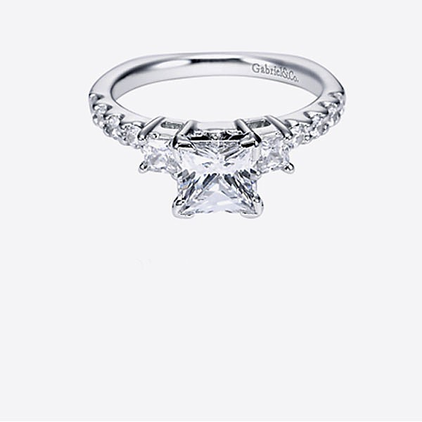 Gabriel & Co Engagement Rings 3 Stone