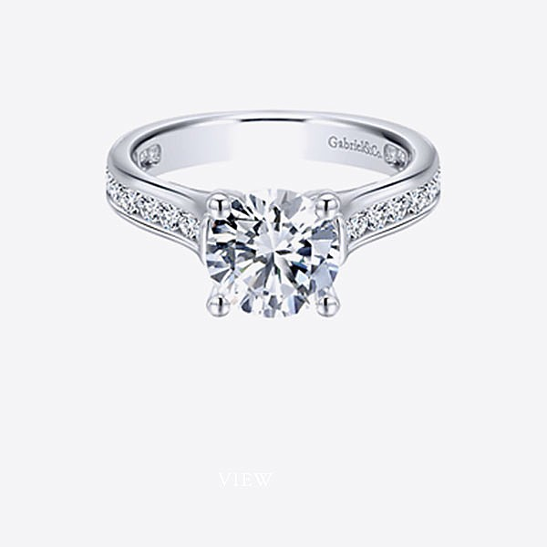 Gabriel & Co Engagement Rings Straight
