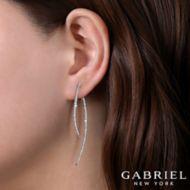 14k White Gold Kaslique Drop Earrings angle
