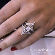 14k White Gold Diamond Enhancer angle